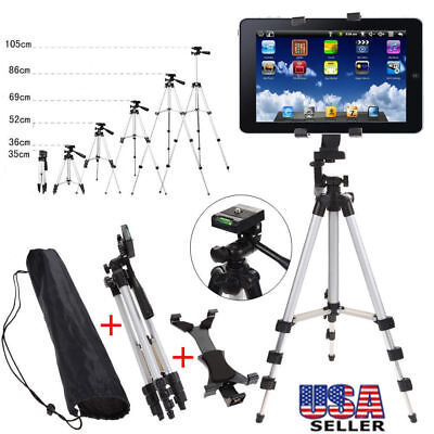 Foldable Tripod Holder Stand Mount Adjustable for iPad 2 3 4 Air Tablet PC + Bag