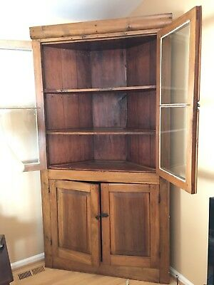 Vintage Country Style Tall Corner Cabinet