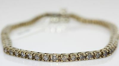 Gorgeous 14K Yellow Gold Tennis Bracelet With 2.00 Ctw Diamonds #f32