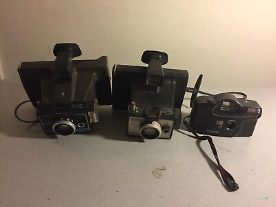 Lot of 3 Different Polaroid Cameras Colorpack II, Square Shooter 2, 3100