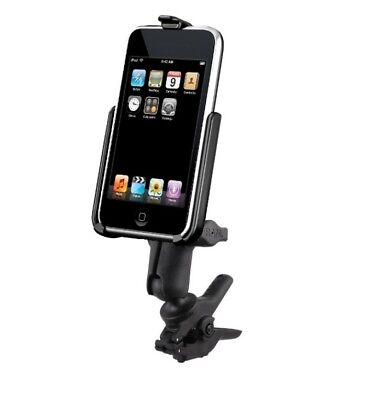 Small Tough-Clamp Motorcycle Mount fits Apple iPod touch 2nd & 3rd Generation