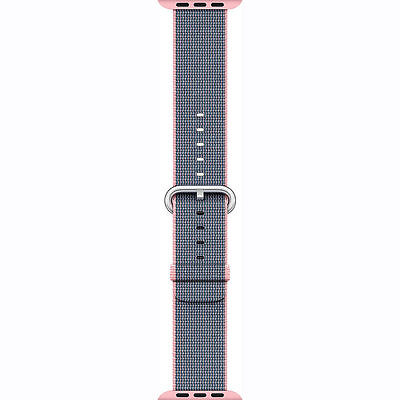 Genuine Apple 38mm Watch Woven Nylon Band, Light Pink/Midnight Blue - UD