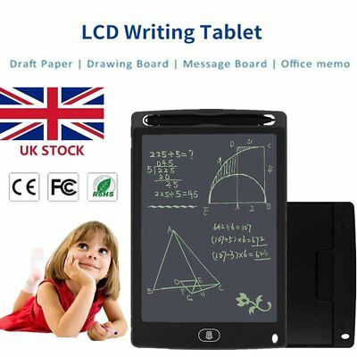 """Electronic Digital LCD Writing Pad Tablet Drawing Graphics Board Notepad 8.5"""" QW"""