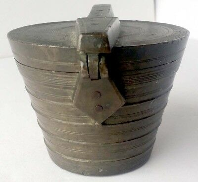 Antique Nine Piece Nested Cup Weight for Apothecary, 8 Pounds, Numeral Marked