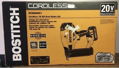 Bostich BCN680D1 Cordless 18 GA Brad Nailer Kit 077914062363