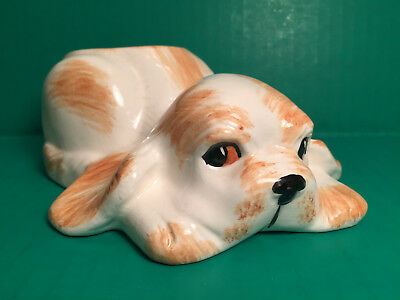 Vintage GOLDAMMER CERAMICS of San Francisco Puppy Dog Planter Vase Crouching Dog