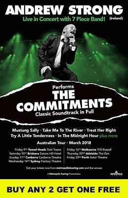Andrew Strong The Commitments 2018 Laminated Australian Tour