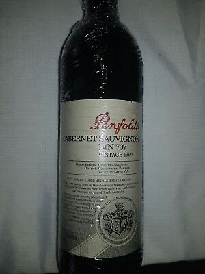 Penfolds Bin 707 Vintage 1990 Cabernet Sauvignon - Excellent Condition!!
