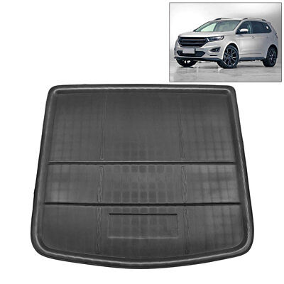 Black Rear Trunk Boot Liner Cargo Mat Floor Tray For Ford Edge