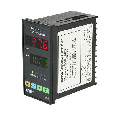 TA6-SNR Temperature Controller Dual 4 LED PID Thermostat Heating Cooling Control