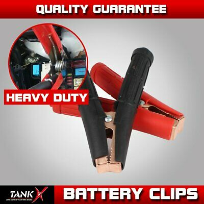 2pcs 1300A Heavy Duty Jumper Starter Booster Cable Car Battery Charger Clamp
