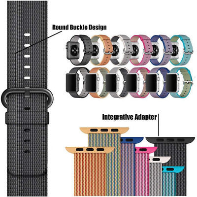 Hot Woven Nylon Sport Watch Band Strap Bracelet Wrist For Apple Watch Series 321