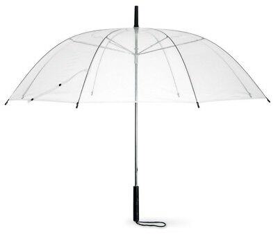 "Transparent Clear Dome Wedding Umbrella Large 38"" PVC Brolly Bride, Bridesmaids"