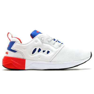 8062cfe5a04 Reebok Classics Mens Furylite II Trainers White Collegiate Royal Riot Red