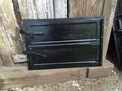 Vintage iron fire door clay / bread oven / pizza stove  doors / smoker-
