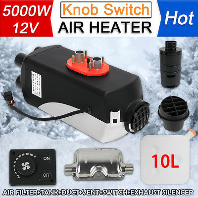 12V 5KW Diesel Air Heater Tank 2 x Vent Duct Thermostat Caravan Motorhome RV New
