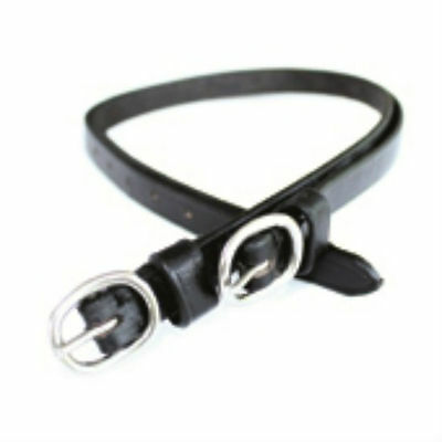 JHL Pro Steel Leather Spur Straps Stainless Steel Buckles Black FREE SHIPPING