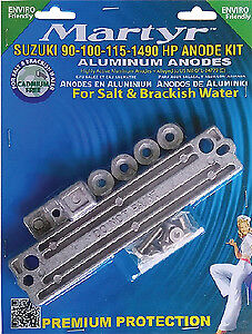 MARTYR ANODES Martyr Suzuki 90 100 115 140 HP Outboard Anode Kit Aluminum CMSZ9
