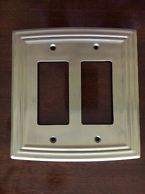 Liberty Classical Double Decorator Satin Nickel Outlet Wall Plate Free Shipping