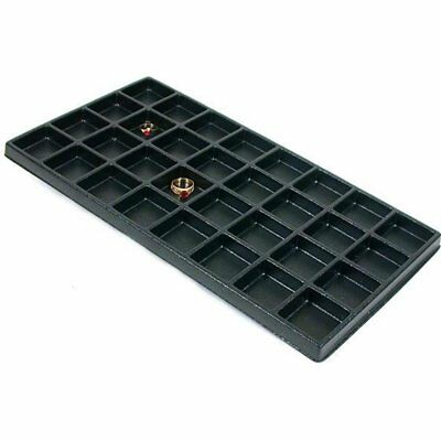 Black 32 Slot Travel Jewelry Charm Earring Display Tray Insert