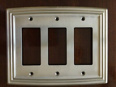Liberty Classical Triple Decorator Satin Nickel Outlet Wall Plate Free Shipping