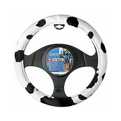 Sumex Cow2021 cow Style Steering Wheel Cover Universal Velvet Cow, Black And -