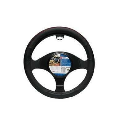 """Steering Wheel Cover Color Line, Black With Red Details. Fits All 14.5"""" - 15.5"""""""