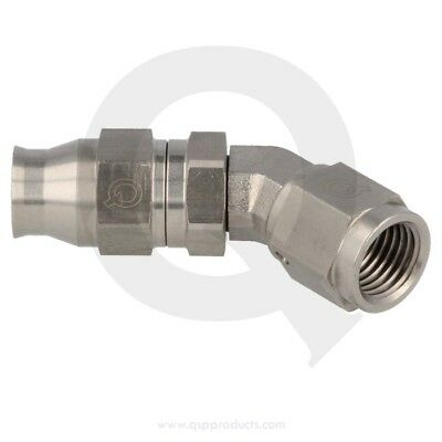 Brake hose end ss D04-D04 female forged, concave  45°