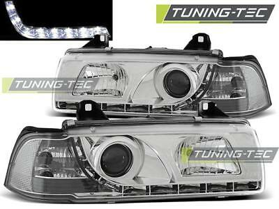 Coppia Fari Anteriori Bmw E36 12.90-08.99 Daylight Chrome*566