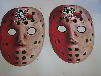 2 Friday the 13th Part 7 Jason Voorhees Movie Promo Masks