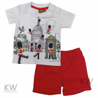 Baby boys soldier  shorts top outfit boy 3-6-9-12-18-24 months 1-2 years summer
