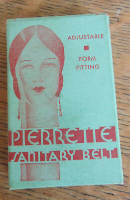 Vintage PIERRETTE Sanitary Belt in Mint Box—Never Opened—No Reserve