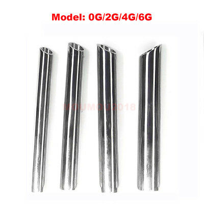 316L Surgical Steel Professional Body Piercing Needle Receiving Tube 0G/2G/4G/6G