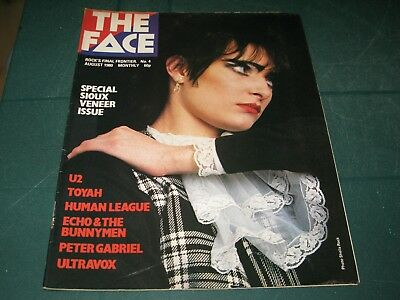 The Face Magazine Vol.1 #4 August 1980 Special Sioux Veneer Issue Peter Gabriel