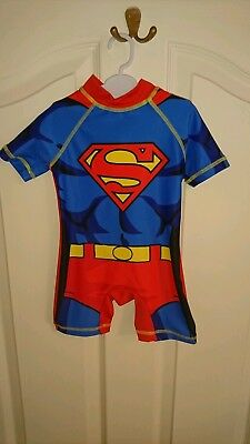 Next swimsuit boys girls 9-12months new with tags superman comic