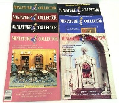 Miniature Collector Magazines Lot of 7 Dollhouse Vintage 1989 1990 1991    F6