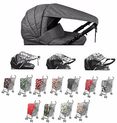 Universal Canopy Sun Rain Protection Parasol Umbrella Cover Shade Pushchair Pram