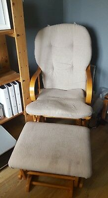 Nursing rocking chair and rocking foot stoll