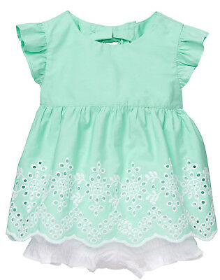 NWT Gymboree Dressed Up Easter Dressy Eyelet Bloomer Set Outfit 2PC Baby Girl