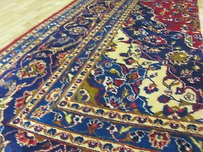 A MARVELLOUS OLD HANDMADE PART OF A MASHAD KHORASON PERSIAN RUG (200 X 95 cm)