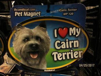 I Love My Cairn Terrier 6 inch oval magnet for car or anything metal  New
