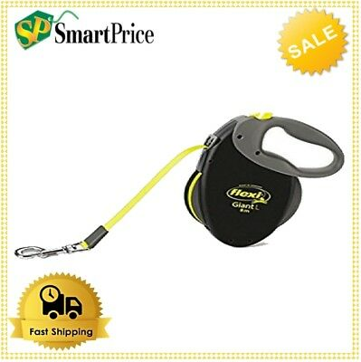 Giant Dog Tape Lead Flexi Retractable Soft Grip Large 8m Neon Dogs Safety Leash