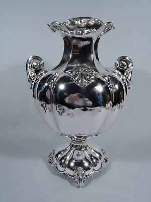 Classical Amphora - Large Traditional Hand Hammered Vase - Italian Silver