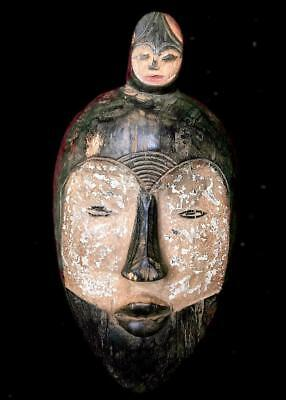 Outstanding Tribal Fang 2 Headed   Mask  --- Gabon