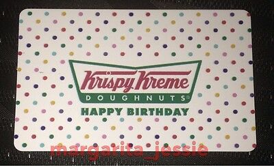 Krispy Kreme Doughnuts Gift Card Happy Birthday Collectible No