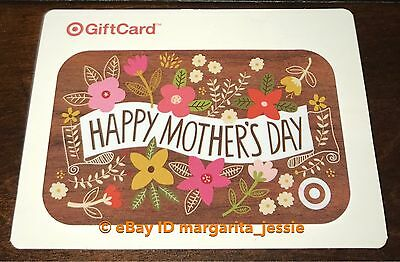 """Target Gift Card """"happy Mother's Day"""" Flowers No Value New Collectible 2017"""