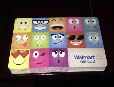 "Walmart Us Gift Card ""emoji Faces Emoticons"" New 2016 Collectible No Value"