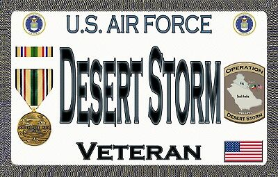 Air Force - Desert Storm - Magnetic Car Sign - 6in X 3in