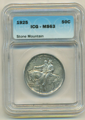 Icg Ms 63 1925 Stone Mountain Early Commemorative Half