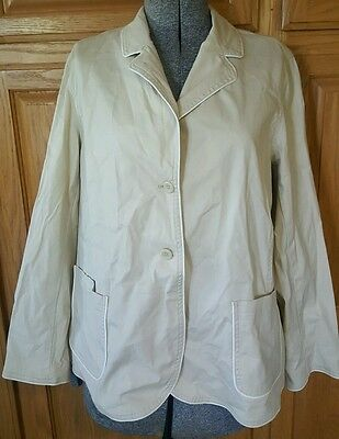 Liz Lange Maternity tan blazer jacket xl extra large